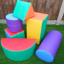 Set of 6 Soft Play Shapes